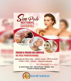 Panfleto - Sua Pele Muito Mais Saudável (21x30cm-Vertical, 4x0 (Colorido Frente)