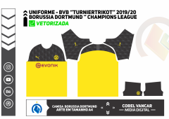 "Uniforme BVB ""Turniertrikot"" Champions League 2019-20"