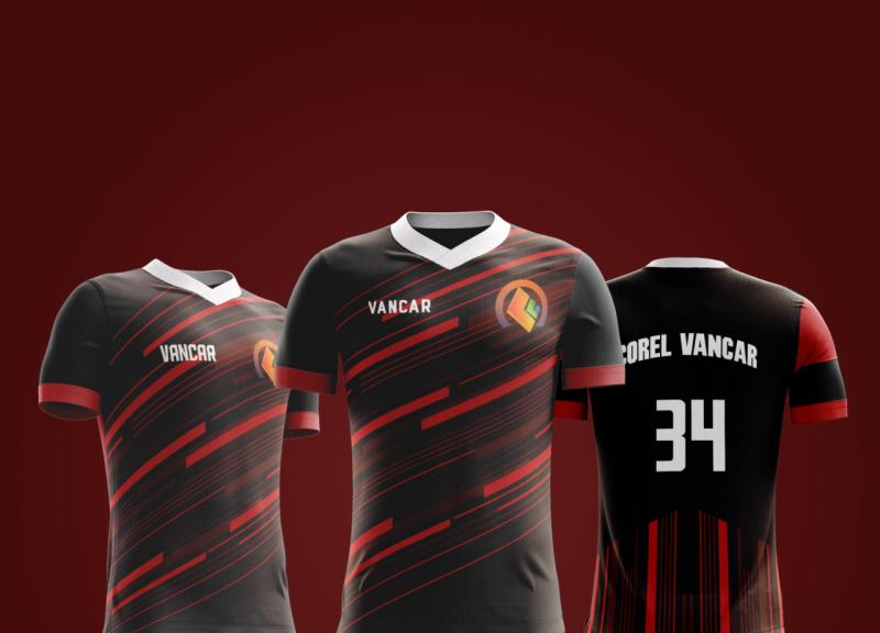 Modelo De Camisa Esportivo Futebol Em Cdr