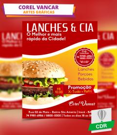 Panfleto - Lanchonete - Restaurante