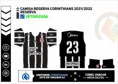 CAMISA RESERVA CORINTHIANS - 2021-2022