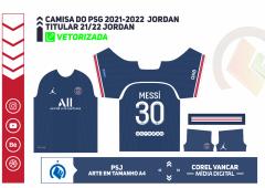 Camisa PSG 2021-2022 Jordan - Titular ( + FONTE )