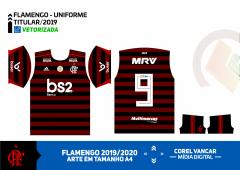 Estampa Vetorizada, Fonte E Numeração Do Flamengo 2019 (Titular e Reserva)