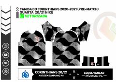 Camisa do Corinthians 2020-2021 (Pre-match) - NIKE