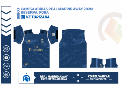 CAMISA DO REAL MADRID 2020, UNIFORME RESERVA , CLIMALITE