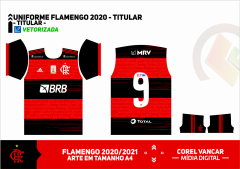 CAMISA DO FLAMENGO 2020 - UNIFORME 01(TITULAR)