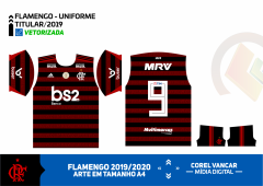 CAMISA DO FLAMENGO 2019-2020 - UNIFORME 01(TITULAR) C-P