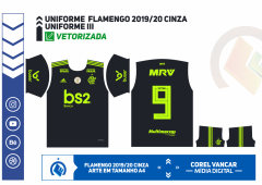 CAMISA DO FLAMENGO 2019-2020 - UNIFORME III CINZA