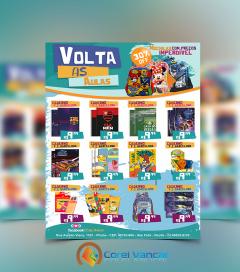 Panfleto - Volta as Aulas (21x30cm-Vertical, 4x0 (Colorido Frente)