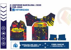 UNIFORME BARCELONA PRÉ-JOGO 2020
