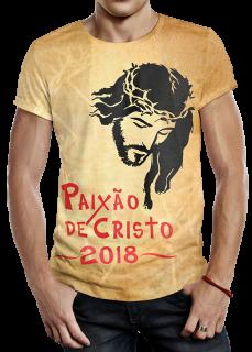 Modelo de Camiseta Paixão de Cristo - 2018