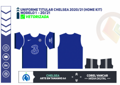 Uniforme titular Chelsea 2020-21 (Home Kit)