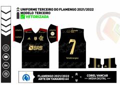 CAMISA FLAMENGO TERCEIRA 2021/22 / ARTE