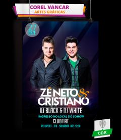 Flyer Sertanejo CorelDRAW ZÉ NETO E CRISTIANO - CV