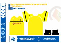 Uniforme Borussia Dortmund 2018-2019 -Titular - UCL