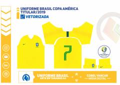 UNIFORME BRASIL COPA AMÉRICA 2019 - TITULAR
