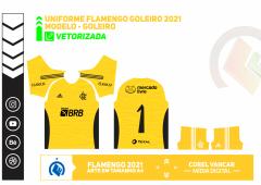 ARTE UNIFORME DO FLAMENGO GOLEIRO 2021
