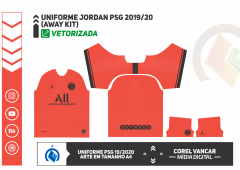 PSG Uniforme Jordan 2019-20 Infravermelha (Away Kit)