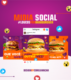 Mídia Social anúncios para Instagram e Facebook - Restaurante