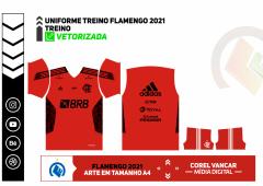 ARTE CAMISA FLAMENGO TREINO 2021