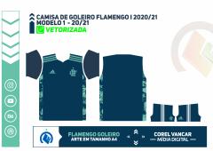 Camisa de Goleiro Flamengo I 2020-2021
