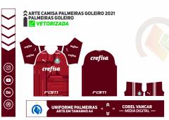UNIFORME PALMEIRAS GOLEIRO 2021 - VERMELHA