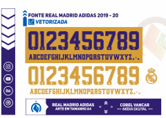 Fonte Real Madrid 2019 / 2020
