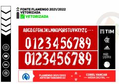 Fonte do Flamengo 2021/2022 - Adidas