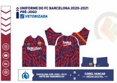 Camisa pré-jogo do FC Barcelona 2020-2021 - Nike