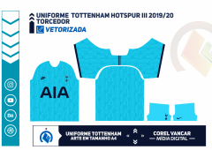 Terceiro Uniforme Tottenham 2019 /2020