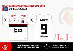 Uniforme Flamengo Branco 2019/2020 (Reserva)