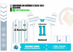 Camisa do Grêmio 2020-2021 - Reserva