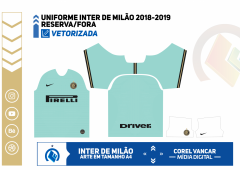 Uniforme Inter de Milão 2019-2020 - Reserva-Fora