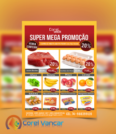 Panfleto Promocional, Oferta para Supermercado