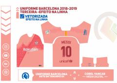 Uniforme Barcelona 2018-2019 - Terceira -Efeito na Linha