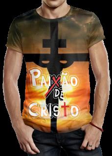 Modelo de Camiseta Paixão de Cristo