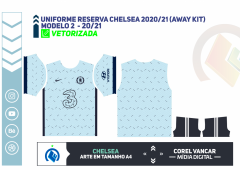 Uniforme reserva Chelsea 2020-21 (Away kit)