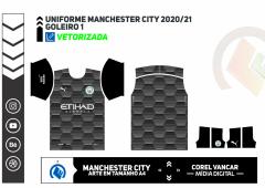 Uniforme Manchester City Goleiro 1 - 2020-21