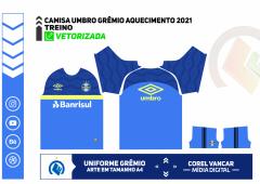 CAMISA UMBRO GRÊMIO TREINO 2021 - Azul Royal+Amarelo