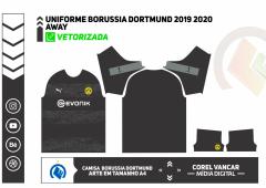 CAMISA PUMA AWAY BORUSSIA DORTMUND 2019 2020