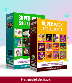 SUPER PACK SOCIAL MÍDIA 2 EM 1 CORELDRAW MAIS PHOTOSHOP