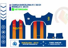 Camisa Barcelona IV - 20-2021