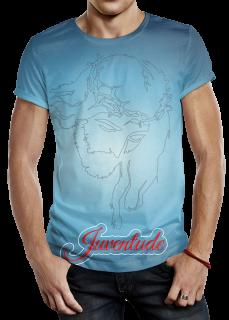 Modelo de Camiseta  - Juventude, Com Estampa de Cristo
