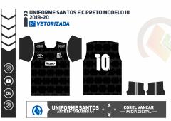 SANTOS F.C  UNIFORME PRETO 2020-21