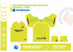 Uniforme Barcelona 2018-2019 - Reserva - Fora