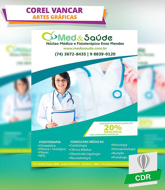 869af3f11ffc Modelo de Panfleto / Folder para Clínica Médica e Dentistas