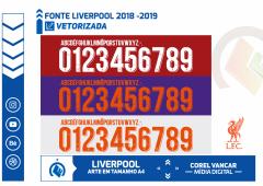 Fonte Liverpool Nike 2018-2019