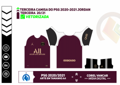 Terceira III Camisa do PSG 2020-2021 Jordan
