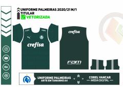 UNIFORME PALMEIRAS 2020-21 MODELO 1
