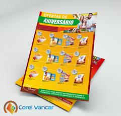 Panfleto Para Produtos em Promoção Frente e Verso